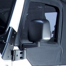 Door Mirror, Black, Left Side, 87-06 Jeep Wrangler