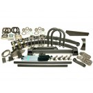 "Kit Classic Front Lift 4"" Springs 12"" Shocks Rhd 4-Stud Arms Drop Pitman 5.0"" Shackle"
