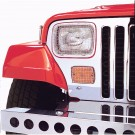 Stone Guard Set, Stainless Steel, 87-95 Jeep Wrangler (YJ)