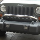 Bumper Mounted Light Bar, Stainless Steel, 07-15 Jeep Wrangler (JK)