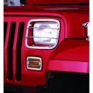 Euro Guard Set, Stainless Steel, 87-95 Jeep Wrangler (YJ)