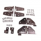 Hinge Kit, Black Chrome, 87-95 Jeep Wrangler (YJ)