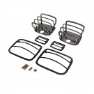 Euro Guard Kit, Black Chrome, 87-95 Jeep Wrangler (YJ)
