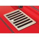 Cowl Vent Cover, Satin Stainless Steel, 98-06 Jeep Wrangler (TJ)
