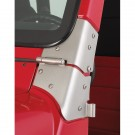 Windshield Hinge Kit, Satin Stainless Steel, 97-06 Jeep Wrangler (TJ)