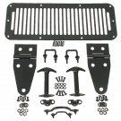 Hood Kit, Black, 76-95 Jeep CJ and Wrangler