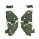 Windshield Hinges, Black, 76-86 Jeep CJ and 87-95 Jeep Wrangler (YJ)