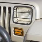 Euro Guard Set, Headlight and Turn Signal, 87-95 Jeep Wrangler (YJ)