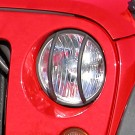 Headlight Euro Guards, Black, 07-15 Jeep Wrangler