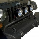 Bumper Mounted Light Bar, Textured Black, 07-15 Jeep Wrangler (JK)