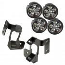 A-Pillar Light Mount Kit, Semi-Gloss Black, Round LED, 07-15 Wrangler