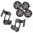 A-Pillar Light Mount Kit, Textured Black, Round LED, 07-15 Wrangler