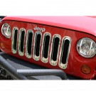 Grille Inserts, Chrome, 07-15 Jeep Wrangler