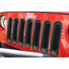 Grille Inserts, Black, 07-15 Jeep Wrangler