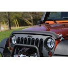 Bug Deflector, Matte Black, 07-15 Jeep Wrangler