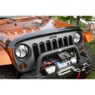 Wraparound Bug Deflector, Smoke, 07-15 Jeep Wrangler