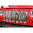 Billet Grille Insert, Polished Aluminum, 07-15 Jeep Wrangler