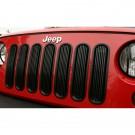 Billet Grille Insert, Black, 07-15 Jeep Wrangler