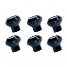 Billet Aluminum Dash Knob Set, Black, 76-86 Jeep CJ Models