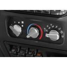 Aluminum Climate Control Knob Set, Red, 99-06 Jeep Wrangler (TJ)