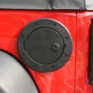 Locking Gas Cap Door, Black Aluminum, 07-15 Jeep Wrangler (JK)