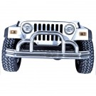 Defender Front Bumper, Stainless Steel, 55-06 Jeep CJ and Wrangler