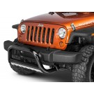 3-Inch Bull Bar, Black, 07-09 Jeep Wrangler (JK)