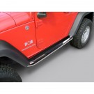 3-Inch Round Tube Side Step, Stainless, 07-15 Jeep 2-Door Wrangler JK