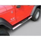 4 1/4-inch Oval Side Steps, Stainless Steel, 07-15 Jeep Wrangler (JK)