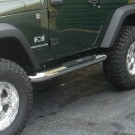 4-inch Round Side Steps, Stainless Steel, 07-15 Jeep Wrangler (JK)