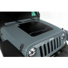 Hood Decal, Barbed Wire, 07-15 Jeep Wrangler