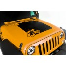 Hood Decal, Hibiscus, 07-15 Jeep Wrangler