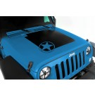 Hood Decal, Star, 07-15 Jeep Wrangler
