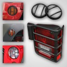 10-Piece Euro Guard Light Kit, Black, 07-15 Jeep Wrangler