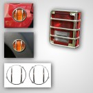 8-Piece Euro Guard Light Kit, Stainless Steel, 07-15 Jeep Wrangler