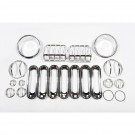19-Piece Euro Guard Light Kit, Stainless, 07-15 Jeep Wrangler
