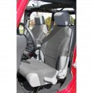 Neoprene Seat Protector Vests, Gray, 07-15 Jeep Wrangler (JK)