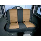 Neoprene Rear Seat Cover, Black and Tan, 07-15 Jeep Wrangler (JK)