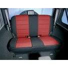 Neoprene Rear Seat Cover, Black and Red, 07-15 Jeep Wrangler (JK)