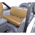 Fixed Rear Seat, Tan, 55-95 Jeep CJ and Wrangler