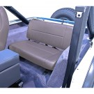 Standard Replacement Rear Seat, Gray, 55-95 Jeep CJ and Wrangler