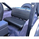 Standard Replacement Rear Seat, Black, 55-95 Jeep CJ and Wrangler