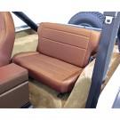 Fold and Tumble Rear Seat, Tan, 76-95 Jeep CJ and Wrangler
