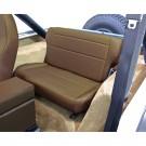 Fold and Tumble Rear Seat, Nutmeg, 76-95 Jeep CJ and Wrangler