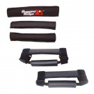 Grab Handle Kit, Black, 97-06 Jeep TJ, LJ Wrangler