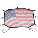 Eclipse Sun Shade, Front, American Flag; 07-16 Jeep Wrangler JK