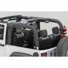 Roll Bar Cover, Black Vinyl, 07-15 Jeep Wrangler (JK)