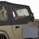 Upper Soft Door Kit, Gray, 88-95 Jeep Wrangler (YJ)