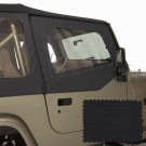 Upper Soft Door Kit, Black Diamond, 88-95 Jeep Wrangler (YJ)