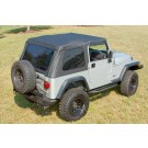 Sailcloth Bowless XHD Soft Top, Black, 97-06 Jeep Wrangler (TJ)